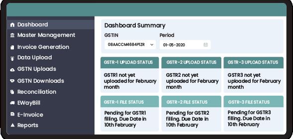 Dashboard | GST Platform for GST Return Filing